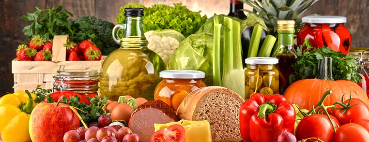 Marché produits alimentaires