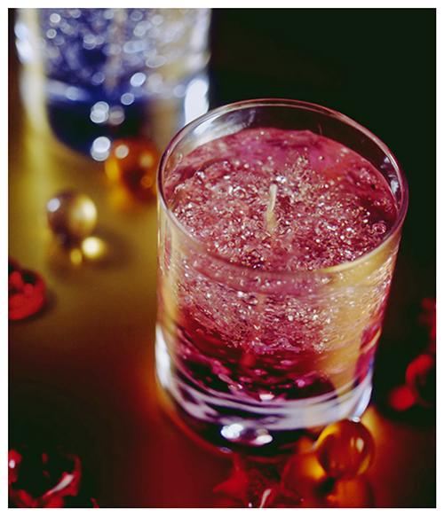 Bougie décorative gel